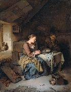 Cornelis Bega Saying Grace oil painting artist
